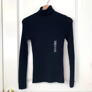 Uniqlo Black Merino Ribbed Turtleneck Sweater